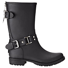 Buy Jigsaw Short Rubber Wellington Boots, Black Online at johnlewis.com