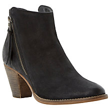 Buy Dune Pollie Leather Lace Up Desert Ankle Boots, Black Online at johnlewis.com