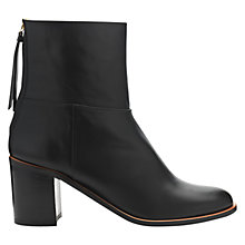 Buy Whistles Grace Zip Back Leather Ankle Boots, Black Online at johnlewis.com