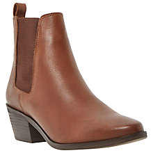 Buy Dune Peetra Leather Block Heel Chelsea Ankle Boots Online at johnlewis.com