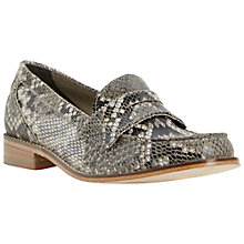 Buy Dune Leoh Low Flat Heel Loafers, Reptile Online at johnlewis.com