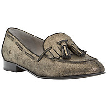 Buy Dune Luda Tassel and Fringe Detail Loafers, Pewter Online at johnlewis.com