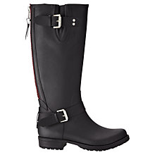 Buy Jigsaw Tall Rubber Wellington Knee High Boots, Black Online at johnlewis.com