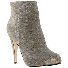 Buy Dune Roxie High Stiletto Heel Ankle Boots, Gold Online at johnlewis.com