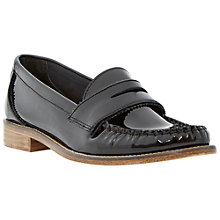 Buy Dune Leoh Low Flat Heel Loafers, Black Online at johnlewis.com