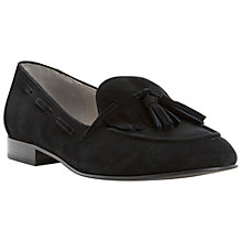 Buy Dune Luda Tassel and Fringe Detail Loafers, Black Online at johnlewis.com