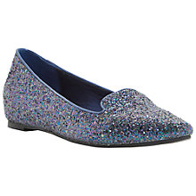 Buy Dune Luiza Slip On Flat Shoes, Petrol Online at johnlewis.com