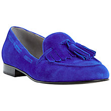 Buy Dune Luda Tassel and Fringe Detail Loafers, Blue Online at johnlewis.com