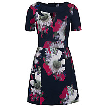 Buy French Connection Wilderness Bloom Dress, Utility Blue Online at johnlewis.com