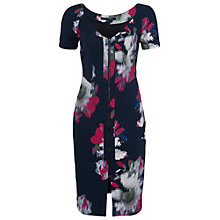 Buy French Connection Wilderness Bloom V-Neck Dress, Utility Blue Online at johnlewis.com