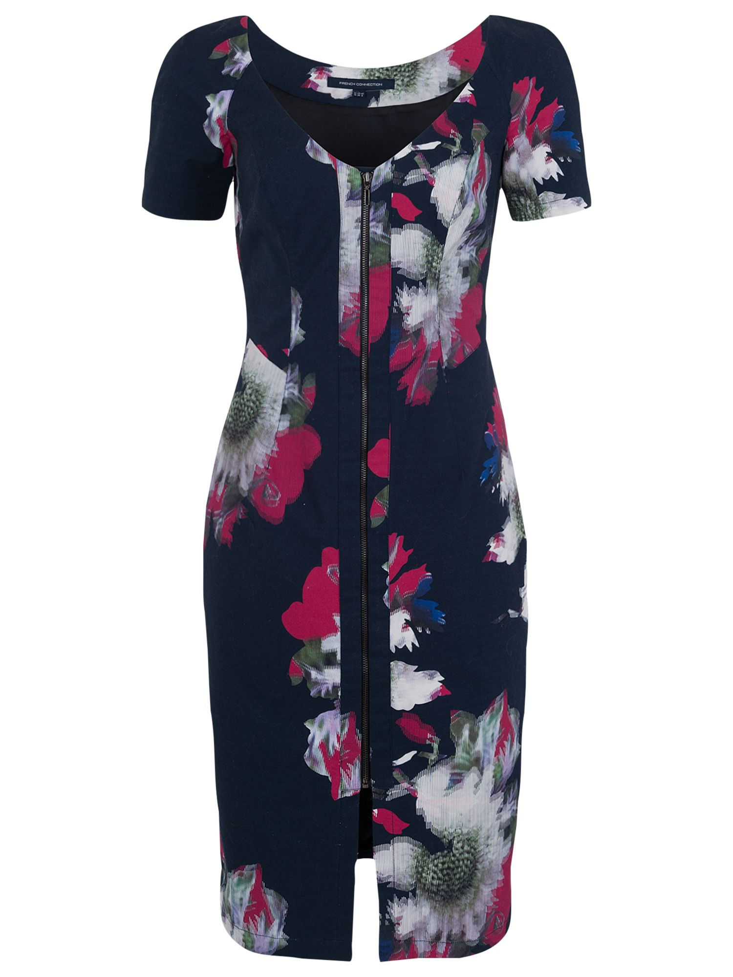 french connection wilderness bloom v-neck dress utility blue, french, connection, wilderness, bloom, v-neck, dress, utility, blue, french connection, 6|8, clearance, womenswear offers, womens dresses offers, women, inactive womenswear, new reductions, womens dresses, special offers, 1667151