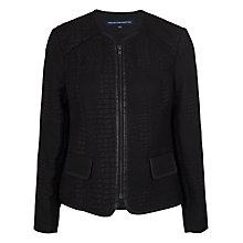 Buy French Connection Luxe Long Sleeve Zip Jacket, Black Online at johnlewis.com