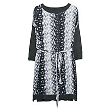 Buy Violeta by Mango Printed Front Dress, Dark Grey Online at johnlewis.com