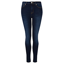 Buy Mango High Waisted Broadway Jeans, Navy Online at johnlewis.com