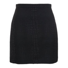 Buy French Connection Croc Luxe Mini Skirt, Black Online at johnlewis.com