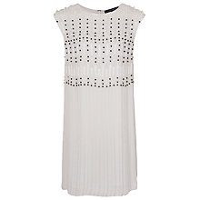 Buy French Connection Riobamba Beads Sleeveless Dress, Winter White Online at johnlewis.com