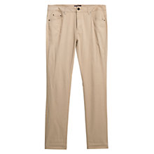 Buy Violeta by Mango Slim-Fit Cotton Trousers Online at johnlewis.com
