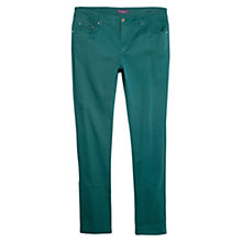 Buy Violeta by Mango Slim-Fit Cotton Trousers, Green Online at johnlewis.com