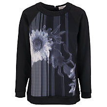 Buy French Connection Wilderness Bloom Sweater, Black / Multi Online at johnlewis.com