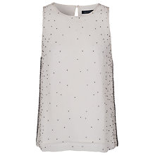 Buy French Connection Glitter Dash Sleeveless Top, Winter White Online at johnlewis.com