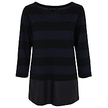 Buy French Connection Manhattan Winter Stripe Top, Black / Utility Blue Online at johnlewis.com