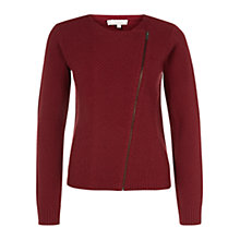 Buy Hobbs London Thea Knitted Biker Cardigan Online at johnlewis.com