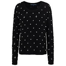 Buy French Connection Velma Knits Round Neck Jumper, Black Online at johnlewis.com