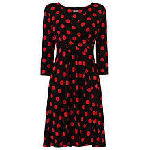 Buy Phase Eight Philly Spot Dress, Black/Red Online at johnlewis.com