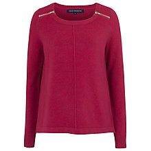 Buy French Connection Autumn Vhari Jumper, Berry Punch Online at johnlewis.com