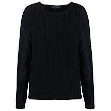Buy French Connection Autumn Mozart Jumper, Black / Black Lace Online at johnlewis.com
