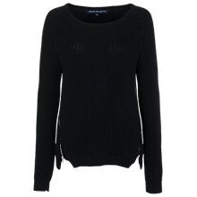 Buy French Connection Mozart Rock Raglan Jumper, Black Online at johnlewis.com