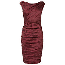 Buy Phase Eight Skyler Crush Dress, Ruby Online at johnlewis.com