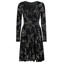 Buy French Connection Anastasia Flare Dress, Black / Winter White Online at johnlewis.com