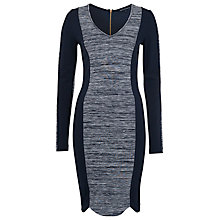 Buy French Connection Contrast Panel Dress, Utility Blue Online at johnlewis.com