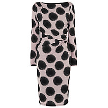 Buy Phase Eight Stacey Spot Dress, Black/Taupe Online at johnlewis.com