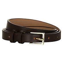 Buy Hobbs London Hampton Belt, Chocolate Online at johnlewis.com