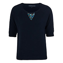 Buy French Connection Gem Embellished Jumper, Utility Blue Online at johnlewis.com