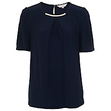Buy French Connection Hanah Crepe Roundneck Top Online at johnlewis.com