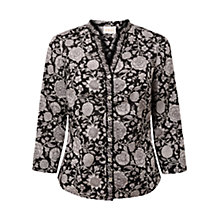 Buy East Fara Border Print Shirt, Black Online at johnlewis.com
