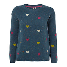 Buy White Stuff Furry Heart Jumper Online at johnlewis.com