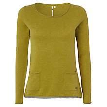 Buy White Stuff Plain Talkin Jumper, Green Pansy Online at johnlewis.com