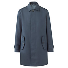 Buy Jigsaw Bonded Cotton Millerain Mac, Navy Online at johnlewis.com