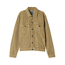 Buy Jigsaw Corduroy Trucker Jacket, Camel Online at johnlewis.com