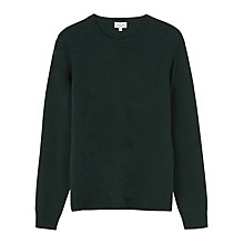 Buy Jigsaw Lambswool Cashmere Mixed Gauge Jumper, Bottle Green Online at johnlewis.com