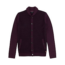Buy Ted Baker Saltash Textured Cardigan, Deep Purple Online at johnlewis.com