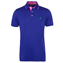 Buy Polo Golf by Ralph Lauren Solid Pro Mesh Polo Shirt, Foster Blue Online at johnlewis.com