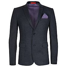 Buy Ted Baker Nyal Herringbone Blazer, Navy Online at johnlewis.com