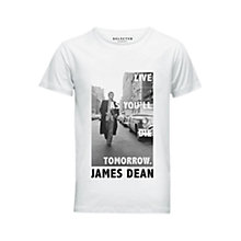 Buy Selected Homme James Dean T-Shirt, White Online at johnlewis.com
