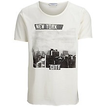 Buy Selected Homme Rock N Roll New York T-Shirt, Marshmallow Online at johnlewis.com
