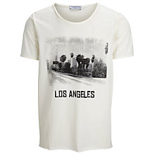 Buy Selected Homme Rock N Roll Los Angeles T-Shirt, Marshmallow Online at johnlewis.com